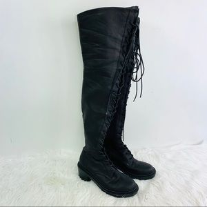 Shoe Cult Nasty Gal Tall Boots Thigh High 8.5